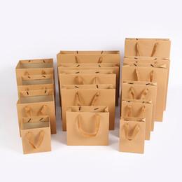 Sac à main kraft en Ligne-Sac en papier Kraft STOCK Les sacs à fleurs à fond carré Sacs à protection de l'environnement Emballage de boîte-cadeau Impression vierge