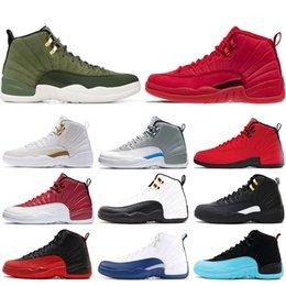 online store 6937a bdda7 Nike air jordan 12 12s Neue 12 12s Mensbasketballschuhe Gym rot Bulls Flu  Spiel Taxi BORDEAUX College-Marine Dunkelgrau-Männer Sport-Turnschuhe Größe  7-13