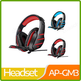 Fasce cablate online-2019 Beexcellent GM-3 USB Stereo Gaming Headset Wired W / LED Basso fascia cuffie professionali delle cuffie di 3.5mm Gioco per PC