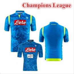 2018 2019 Napoli Champions Leagues home soccer jersey 18 19 Naples  ZIELINSKI HAMSIK INSIGNE CALLEJON PLAYER ROG 3RD football shirts 9588ba19b