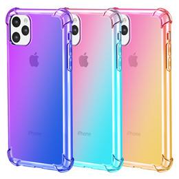 2019 силиконовый чехол для iphone Для iPhone 11 Pro Max XS XR X 8 7 Plus Радуга Силиконовый градиент Clear Soft TPU Чехлы для мобильных телефонов скидка силиконовый чехол для iphone