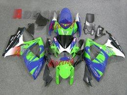 Motos corona gsxr online-3Gifts Nueva ABS motocicleta Kits de carenados de bicicleta aptos para SUZUKI GSXR600 GSXR750 06 07 R600 R750 K6 GSXR 600 750 2006 2007 bonita corona azul