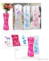 vases en bois Promotion 2018 vase durable de maison de mariage de PVC se pliant pliable écologique de fleur facile à stocker 27 x 12cm