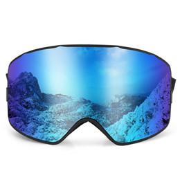 74d2e8832d6 anti fog sport Promo Codes - UV400 Skiing Goggles Men Women Snowboard Goggles  Glasses OTG Snow