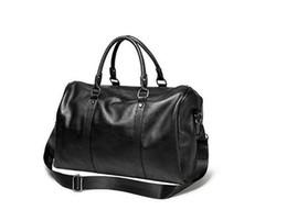 bolsos negros para mujer Rebajas 2018 de alta calidad de alta capacidad para mujer para hombre 54 cm bolsa de viaje bolsas de lona bolso de hombro bolsos bolso negro con cremallera de plata