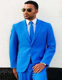 2019 projetos de uma peça de veludo Novo Mais Recente Projeto Dois Botões Azul Do Noivo Do Casamento Smoking Notch Lapela Groomsmen Homens Ternos Blazer Prom (Jacket + Pants + Tie) 117