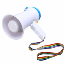 Mini Megáfono Plegable 5W Micrófono de Mano Cuerno Toro Altavoz Amplificador Altavoz Megáfono Herramientas Duraderas para Guider Maestro desde fabricantes