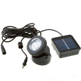 6 LED imperméable à l'eau solaire Spot solaire lumière extérieure jardin lampe de pelouse piscine lumières sous-marines ? partir de fabricateur