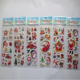 Niños puffy pegatinas online-3D PVC Puffy Anime Cartoon Stickers Stars Phone Santa Claus Kids Toys Craft Classic Toys Children's Christmas Party Supplies
