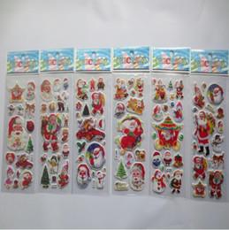 3d pvc geschwollene aufkleber Rabatt 3D PVC Puffy Anime Cartoon Aufkleber Sterne Telefon Weihnachtsmann Kinder Spielzeug Handwerk Classic Toys Kinder Weihnachtsfeier Lieferungen