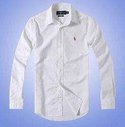 Wholesale 2018 novas blusas de algodão blusas de algodão algodão todo e mangas compridas de manga comprida Oxford girou desgaste de flores multi homens