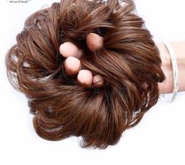 Extensões de cabelo de corda on-line-2019 Chignons Curto Cabelo Resistente Ao Calor Corda Sintética Natural Encaracolado Falso Clipe Em Extensões de cabelo em estilo