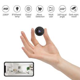alarma dvr de red Rebajas Mini IP cámara inalámbrica Wifi Seguridad para el Hogar W10 HD 1080P DVR visión nocturna inalámbrica mini WiFi 1080P la cámara de detección de movimiento