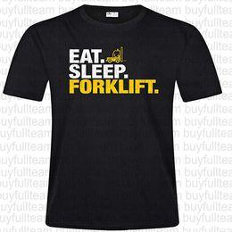 Mangia maglietta online-Eat Sleep Carrelli Mens maniche corte nera Tops Moda girocollo T-shirt Taglia S M L XL 2XL 3XL