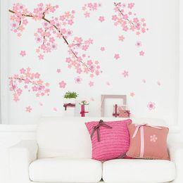 Fiori di prugna arte online-Smontabile Plum Blossom Uccello Ramo di un albero Wall Decal Stickers Citazione Bella casa camera da letto Soggiorno Decorazione