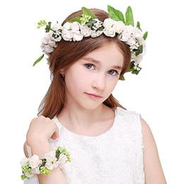 Canada Garland coréen enfants poignet fleur maternelle danse performance performance coiffure attractions photographie de mariage accessoires Offre