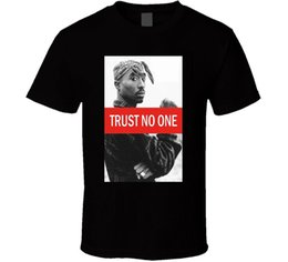 Никому не доверяйте 2pac Футболка Tupac Shakur S-234XL V476 Смешная бесплатная доставка Унисекс Футболка supplier one t shirt от Поставщики одна футболка