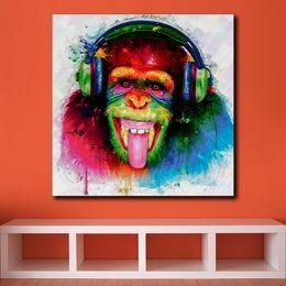 2019 marcos de pared de tres piezas 1 pieza Pop Art DJ Monkey pintura al óleo pintura al óleo imagen de arte impresa sobre lienzo Home Decor pintura abstracta sin marco