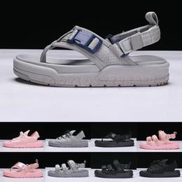 2019 Sommer Cool Grau Niedlich Rosa Rom Stil Designer Sandalen Frauen Mädchen Mode Rutschen Hausschuhe Männer Wohnungen Flip Flop Müßiggänger