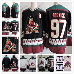 Phoenix Coyotes  97 Jeremy Roenick Vintage Jersey Arizona  7 Keith Tkachuk  Black Classic White 1998 CCM Retro Stitched Men s Hockey S-3XL 1629471b2
