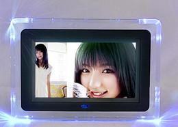 lecteur de films pc Promotion 7 pouces cadre photo numérique hd album photo électronique ultra-mince portable écran lcd mariage mariage cadre numérique cadeau