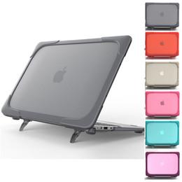 2019 dual laptop tasche Robustes Case Heavy Duty Dual Layer Bumper Case für MacBook Air 11 13 Pro 15 Netzhaut rabatt dual laptop tasche