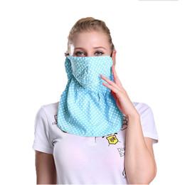 Máscara de cara de niña caliente online-Venta caliente Mujeres Chica Transpirable Protector Solar Anti-UV Mascarilla Boca Cuello Protección Desgaste Al Aire Libre Golf Ciclismo Equipo de Pesca