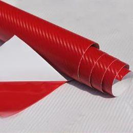 рулоны из углеродного волокна Скидка Top Selling 30*127cm Waterproof 3D Carbon Fiber Vinyl Wrap Sheet Roll Film Car Sticker Decal Sheet For Car Auto Vehicle Detail