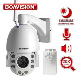 Colore cmos cablato fotocamera online-20X Zoom 1080P Wifi PTZ IP Camera Esterna 2 Vie Audio IP66 Full Color Night Vision Sicurezza Telecamera CCTV Android IOS
