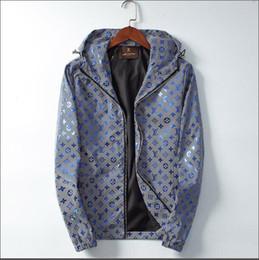 Casacos de impressão floral mens on-line-New Designer 2020 Luxo Jackets Men Carta Imprimir Moda Inverno Coats Marca Designer Blusão Mens Streetwear Zipper jaqueta
