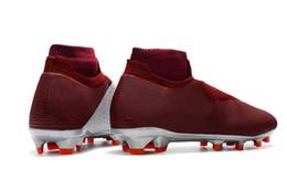 Original de calidad superior rojo plata Phantom VSN Shadow Elite DF FG AG Botas de fútbol Zapatos de fútbol Hombres Clips de fútbol al aire libre Zapatos deportivos desde fabricantes