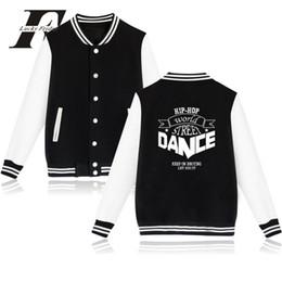 Sudaderas de baile online-Hip hop world street dance moda chaqueta de béisbol hombres mujeres sudaderas con capucha sudadera casual chaquetas de manga larga abrigo superior