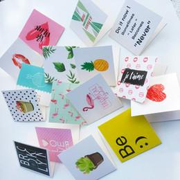 Tarjetas de felicitación para el nuevo año online-Tarjetas de felicitación de cumpleaños de dibujos animados en blanco Año Nuevo Postal del saludo creativo Mini Tarjetas de Navidad tarjeta Mini Card