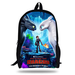 cartoon training Promo Codes - Anime How To Train Your Dragon 3 Backpacks Student School Bag Cartoon Print Rucksack Travel Pack Laptop Bag Big Strong Backpack