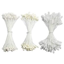 Fare fiori di calze online-leopardo di vetro libero di trasporto 200PCS un lotto gomma piuma della perla 3 millimetri stame di vetro a colori per i fiori di nylon making calza