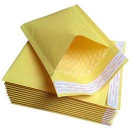 Gelbe blasenpaket online-SZAICHGSI 1000pcs / lot Feuchtigkeitsbeständige Luftblasen-Umschlag-Beutel-Selbstdichtungs-Verpacken aufgefülltes gelbes Postsendungs-Papier Anti-Druck