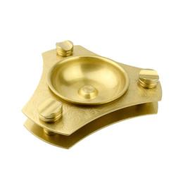 New Metal Good QualityTriangle Zigarre Aschenbecher Gold Farbe Zigarre Ashtry Halter mit Box Geschenk versandkostenfrei von Fabrikanten