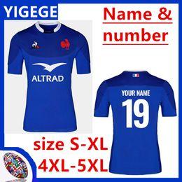 Francia 2019/20 Inicio Rugby camisa del jersey azul casero Rugby Japón jerseys Inicio Blanco Rojo Selección Nacional de Rugby japonesa tamaño S-5XL (puede imprimir) desde fabricantes