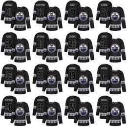logo milan Rabatt Edmonton Oilers Connor McDavid Mailand Lucic Andrew Ference Taylor Hall Ryan Nugent-Hopkins Logo-Hockey-Trikots des Modeteams