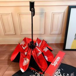 Casais de alta qualidade guarda-chuva fora preto dentro vermelho Design marca guarda-sol de sombrinha de verão guarda-chuvas com caixa de presente de