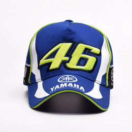 46 cap Promo Codes - Fashion-models YAMAHA racing motorcycle sport cap two is left under the white peaked cap 46 round