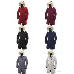 China hoodies online-Heißer Verkauf Luxus Daunen Gans Hoodies Pelz modische Wintermäntel warme Parka Winter USA China Kanada dicke Baumwolle gepolsterte Jacke Baumwolle Jacke