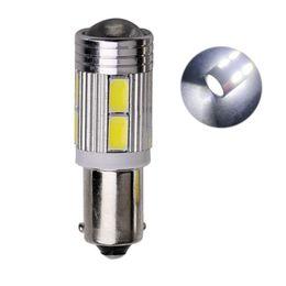100X Atacado BA9S T4W 10SMD 5630 5730 LEVOU Carro Lâmpadas de LED de Automobilização Auto Luz de Leitura de Luz Mapa Placa de Licença DC 12 V de