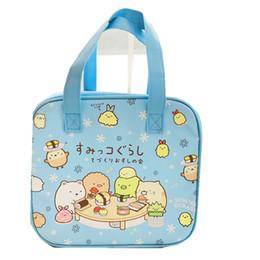 Olá kitty bolsas para crianças on-line-Sumikko gurashi saco dos desenhos animados hello kitty sacos crianças almoço saco de piquenique térmica almoço sacos para mulheres termica bolsa almuerzo L15