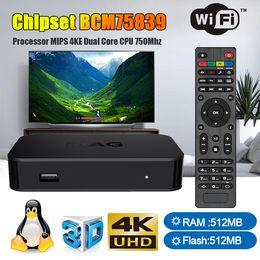 2019 decodificador multimedia Mag322 Linux3.3 Android TV Box 512MB Chipset BCM75839 IPTV Set Top Box 3D Video USB 2.0 Wifi H.265 Media Player decodificador multimedia baratos