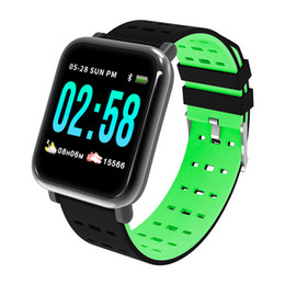 2021 a6 смарт-часы  A6 Smart Watches Remote Bracete Pulsometro Inteligente Wristband Cardi Band Водонепроницаемый SmartWatch Ritmo Control Tracker Fitness Reloj HTBV скидка a6 смарт-часы