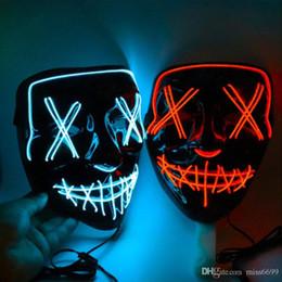 Deutschland Halloween-Maske LED Light Up Party Masken Das Purge Wahljahr Große Lustige Masken Festival Cosplay Zubehör Glow In Dark Grimasse Versorgung