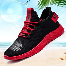 sapatas running do estilo coreano Desconto Homens de Verão Sapatos-2019 Casual Shoes estilo coreano Sports homens e Lazer Running Shoes perfuradas folha vermelha