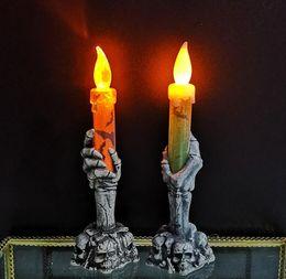2019 halloween ghost führte leuchten Halloween-Produkte, Geisterfest Atmosphäre, Requisiten, Kunststoff Geist Hände, Nachtlichter, Skelett-Leuchten, LED-Licht-emittierende Kerzenlicht günstig halloween ghost führte leuchten