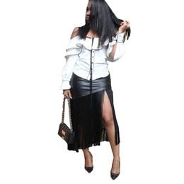 seltsame pflanzen Rabatt Zurück reißverschluss sexy unregelmäßige röcke 2019 high street quaste gespleißt midi röcke frauen frühling schwarz pu partei schlanke röcke